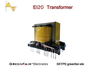China Single Phase EI20 Switch Mode Transformer , Vertical Front End Switching Transformer supplier