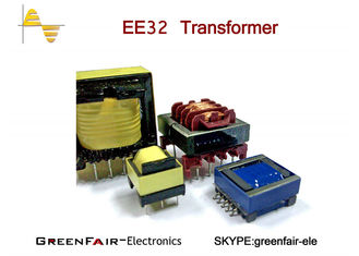 China Vertical Horizontal EE40 42 Hf Power Transformer , UEWF LITZ WIRE High Isolation Transformer supplier