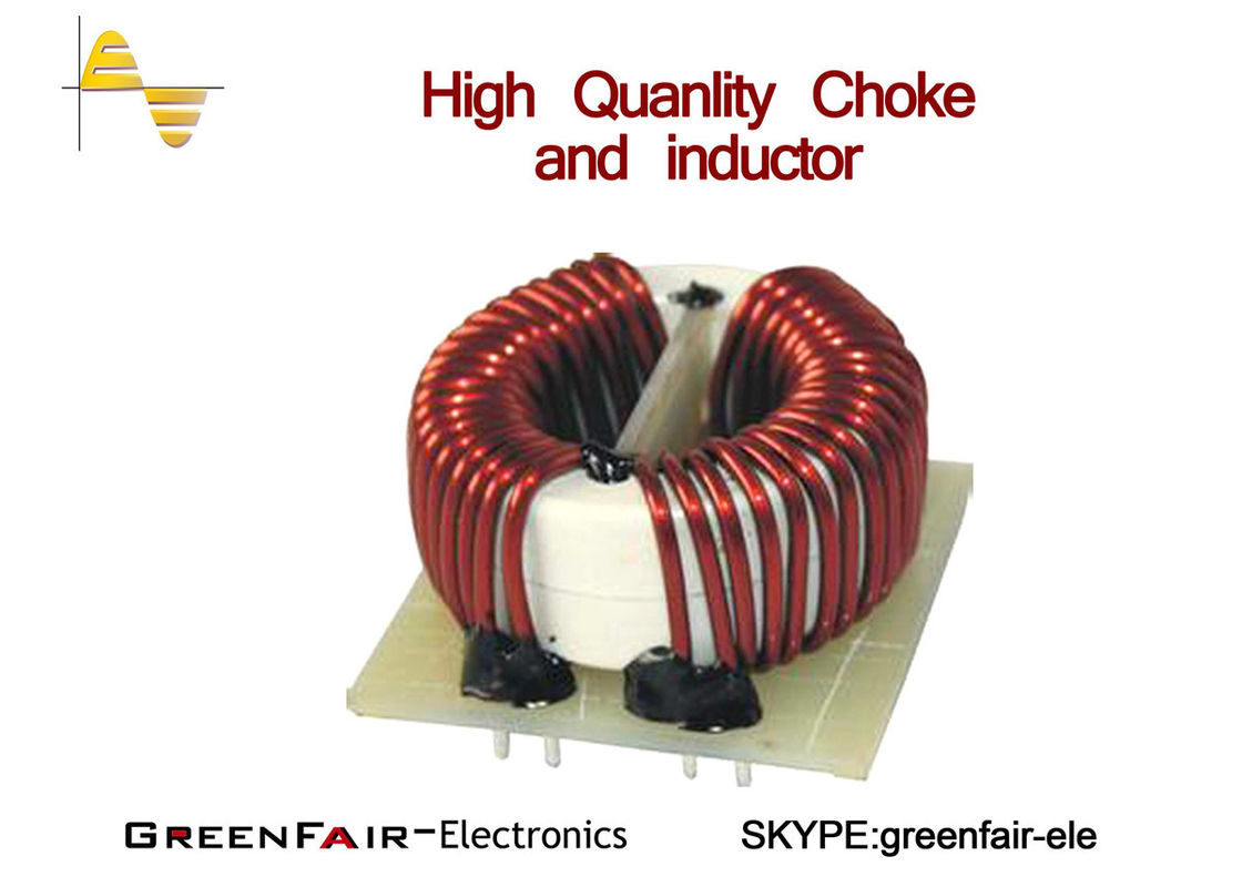 Horizontal Big Current Toroidal Common Mode Choke 2 Cores 20mm Wire Coils Of Copper Are Commonly Used In Electrical Inductors Bifilar Winding