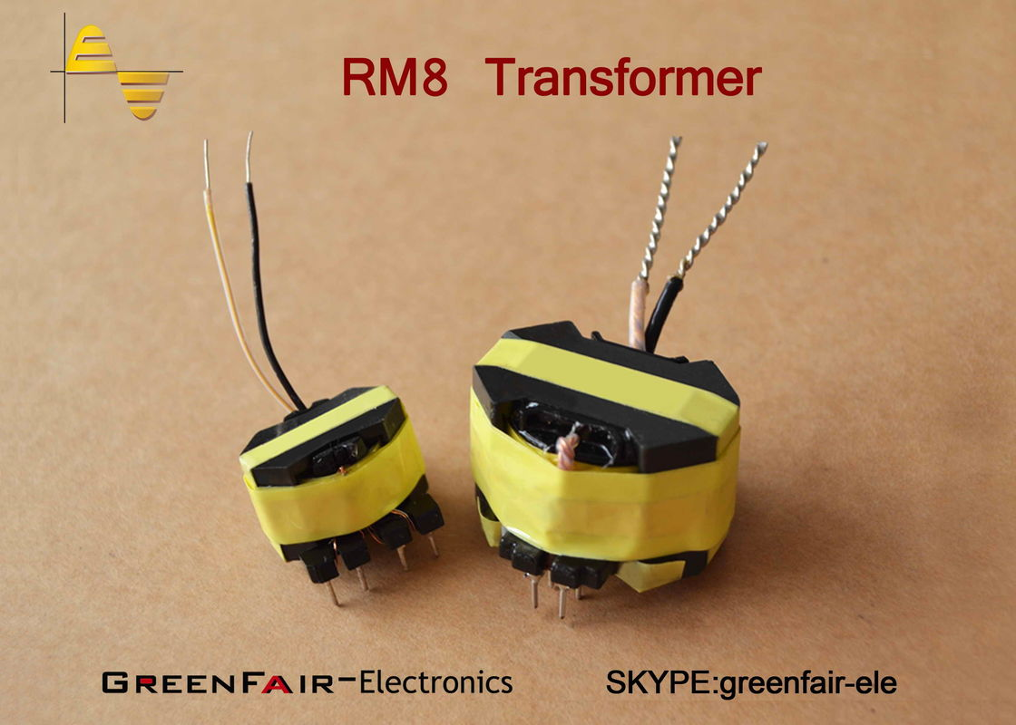 Rm8 Flyback 2 Pin Small Size Transformer With Copper Foil Hi High Voltage Power Supply 3000v Pot